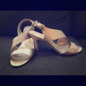 Pink Gold high heels